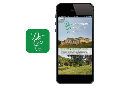 Country Club Golf Mobile App and Icon