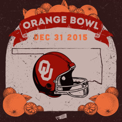 Orange Bowl December 31 2015 with Illustration of Oranges