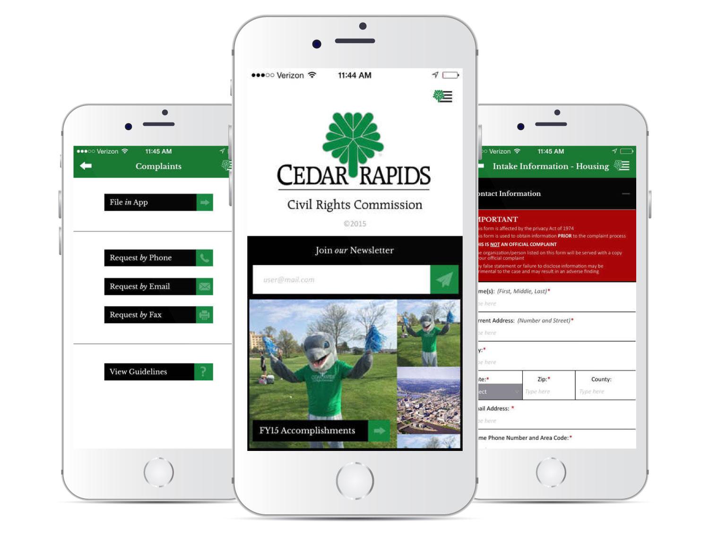 Cedar Rapids Civil Rights Commission Mobile App