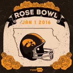 Rose Bowl January 1 2016 with Illustrations of Yellow Roses