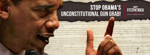 Scott Fitzpatrick Text With Photograph of Obama and Constitution Background