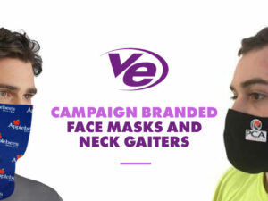 Campaign Branded Face Masks and Neck Gaiters